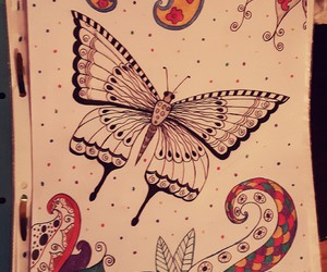 butterfly, colourfull, and drawing image