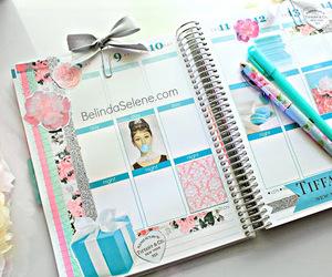 agenda, planner, and tiffany image