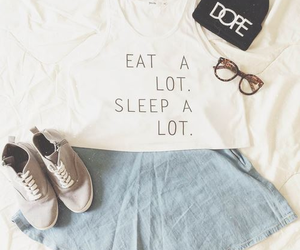 fashion, outfit, and eat image