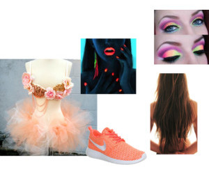 bra, neon, and party image