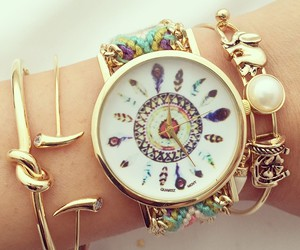 bracelet, watch, and fashion image