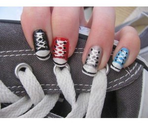 converse, swag, and manicure image