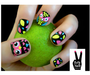 fluro, manicure, and nails image