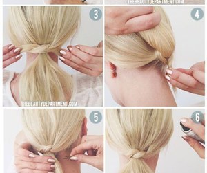 hairstyle, idea, and ponytail image