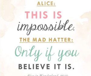alice in wonderland, impossible, and mad hatter image