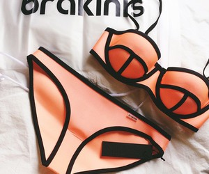 bikini, orange, and summer image