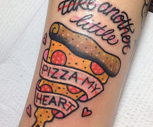 tattoo and pizza image
