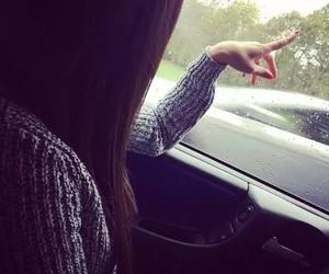 car, hair, and rain image