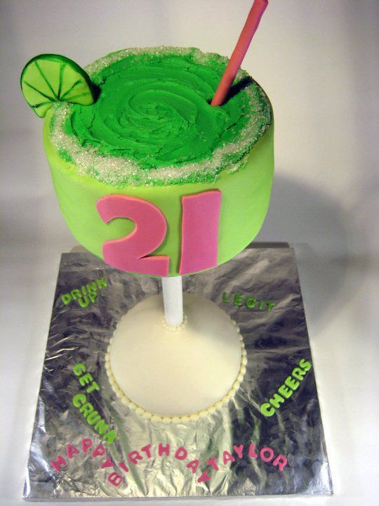 Brilliant Creative Margarita 21St Birthday Cake By Buttercreamdreamskc Birthday Cards Printable Giouspongecafe Filternl