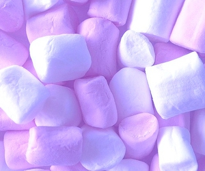 marshmallow, blue, and food image