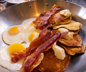 bacon, eggs, and food image