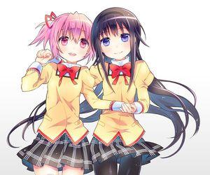 anime, kaname madoka, and akemi homura image