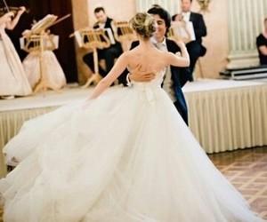 wedding dress, wedding, and couple image