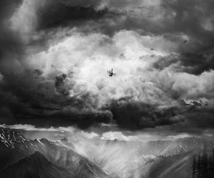 abstract, mountain, and sky image