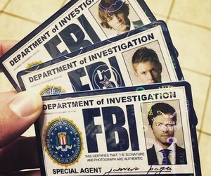 supernatural, castiel, and fbi image