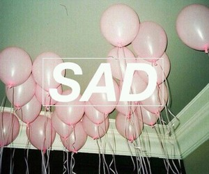 balloons, globos, and sad image