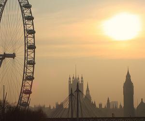 london, sun, and london eye image