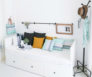 white, bed, and decoration image