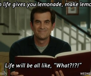 lemonade, modern family, and funny image