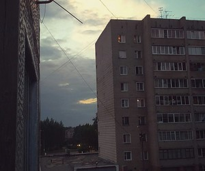 city, sunset, and evening image