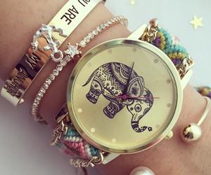 beauty, clock, and elephant image