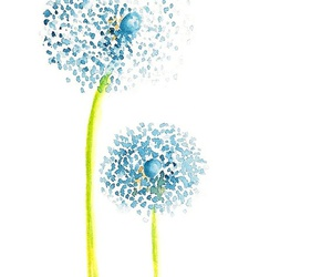 watercolor, art, and dandelion image