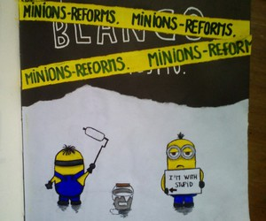 art, minions, and wreckthisjournal image