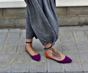 colour, foot, and tattoo image