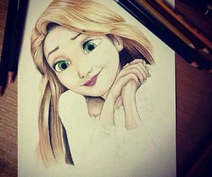 drawing, disney, and tangled image