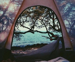 beach, camping, and woods image