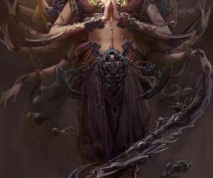 goddess, art, and kali image