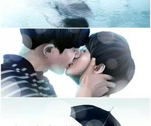 exo, fanart, and rain image