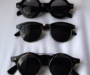 black, sunglasses, and trend image