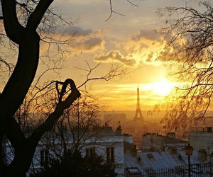 paris and sunset image
