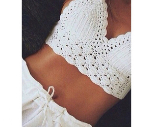 beautiful, beige, and lace image