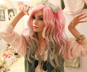 alternative, beautiful, and pink hair image