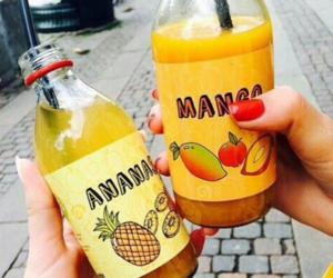 drink, mango, and ananas image
