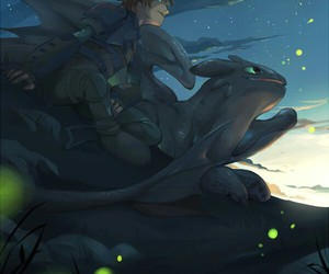 art, hiccup, and how to train your dragon image