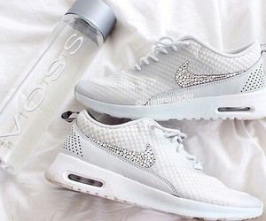 fashion, nike, and white image