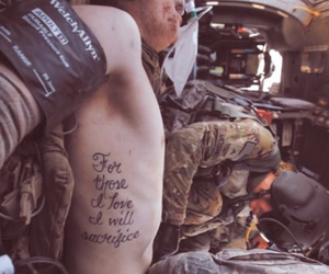 tattoo, love, and sacrifice image