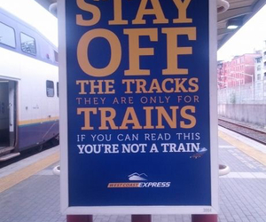 train, funny, and sign image