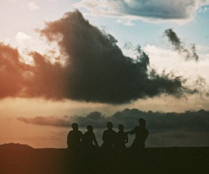 sky, friends, and clouds image