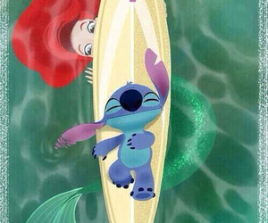 disney, ariel, and stitch image