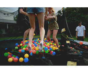 balls, best friends, and childhood image