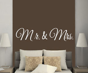 Vinyl Decal, mr & mrs, and love decor image