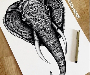 elephant, drawing, and art image
