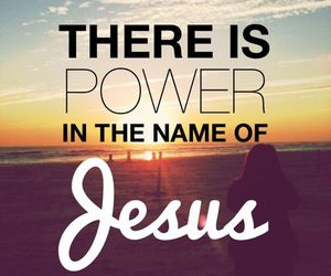 jesus, power, and god image