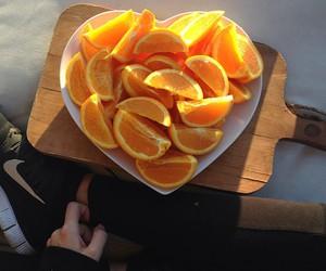 orange, fruit, and heart image