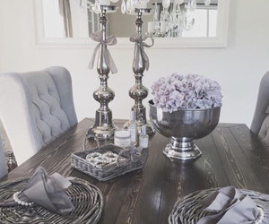 candles, decor, and gray image