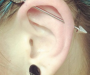 industrial, piercing, and plug image